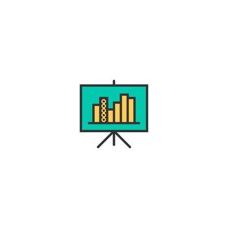 presentation icon line design. Business icon vector illustration Reklamní fotografie - 128905445