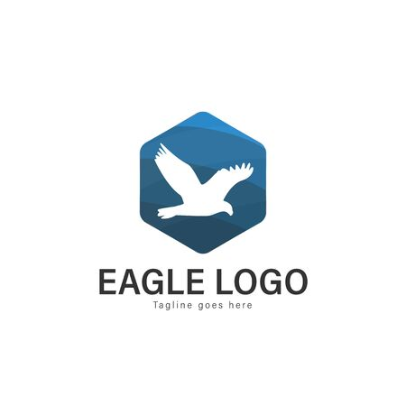 Eagle logo vector illustration. modern eagle logo template isolated on white background Banque d'images - 128905441