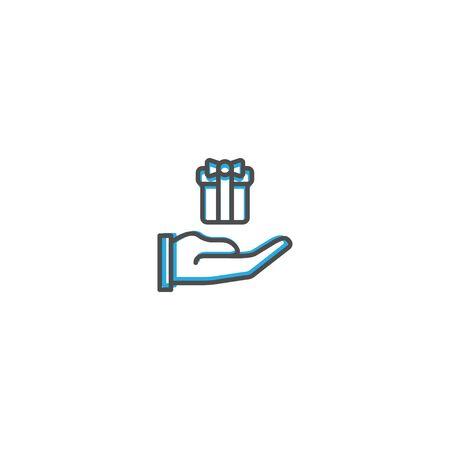 Gift Icon Design. Lifestyle icon vector design 写真素材 - 128905514