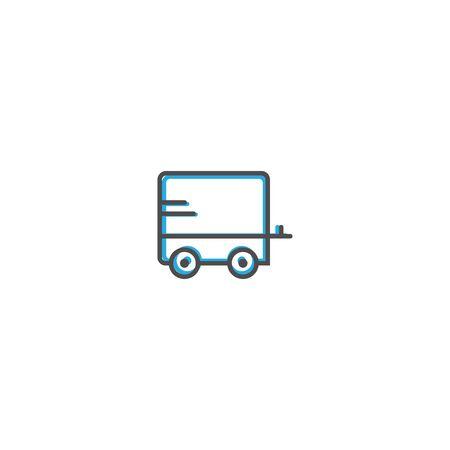 Caravan icon design. Transportation icon vector illustration Ilustracja