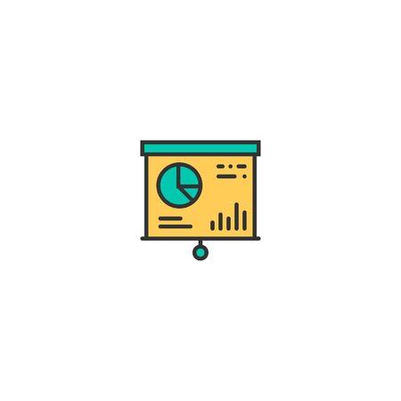 presentation icon line design. Business icon vector illustration