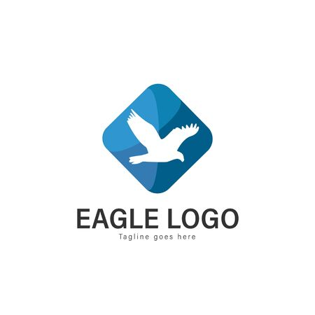 Eagle logo vector illustration. modern eagle logo template isolated on white background Banque d'images - 128905567