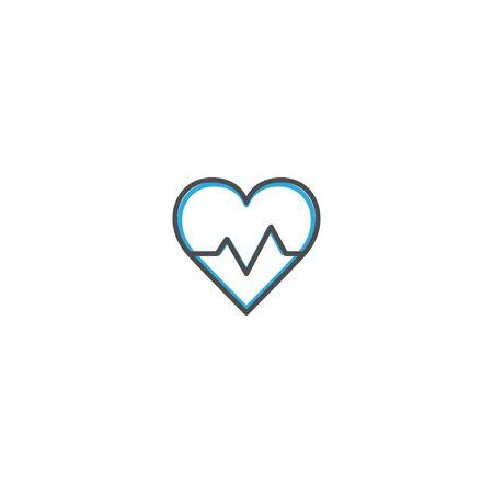 Cardiogram Icon Design. Lifestyle icon vector design