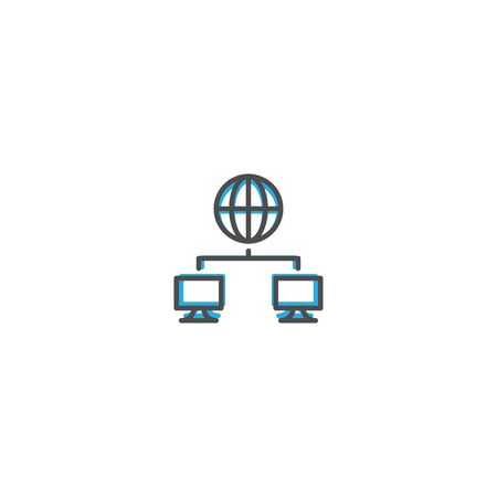 Networking icon design. Marketing icon line vector illustration design