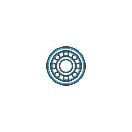 Alloy wheel icon design. Transportation icon vector illustration