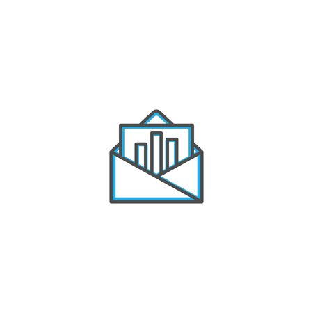 Email icon design. Marketing icon line vector illustration design 写真素材 - 128905617