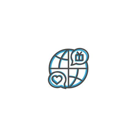 Internet icon design. Marketing icon line vector illustration design