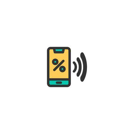 Discount icon design. e-commerce icon vector illustration  イラスト・ベクター素材