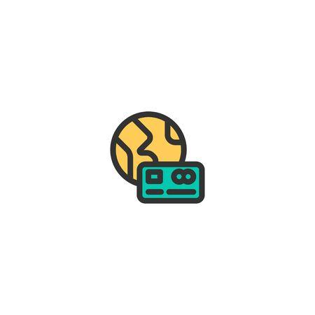 Credit Card icon design. e-commerce icon vector illustration  イラスト・ベクター素材