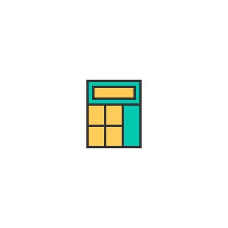 calculator icon line design. Business icon vector illustration