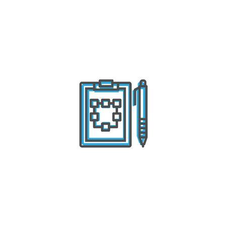 Clipboard icon design. Marketing icon line vector illustration design Ilustração