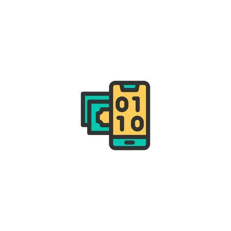 Digital icon design. e-commerce icon vector illustration Stock Illustratie