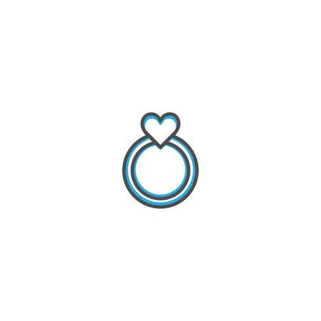 Engagement ring Icon Design. Lifestyle icon vector design