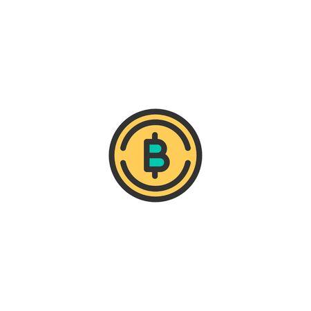 Bit Coins icon design. e-commerce icon vector illustration Ilustracja
