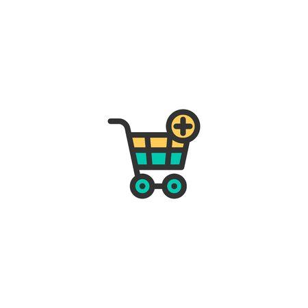 Cart icon design. e-commerce icon vector illustration