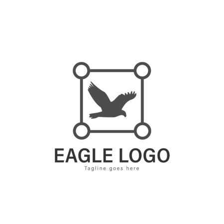 Eagle logo vector illustration. modern eagle logo template isolated on white background Banque d'images - 128906029