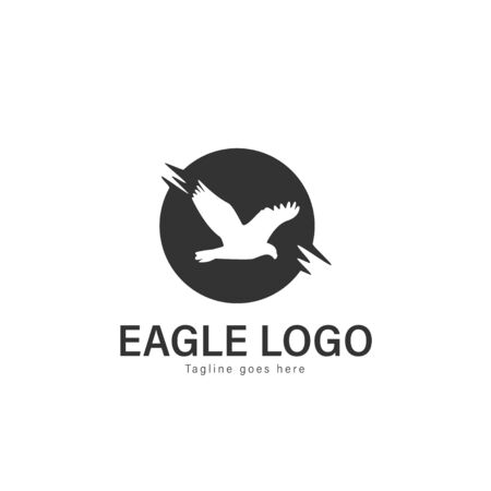 Eagle logo vector illustration. modern eagle logo template isolated on white background Banque d'images - 128906047