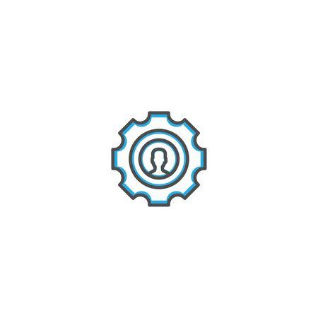 Setting icon design. Marketing icon line vector illustration design