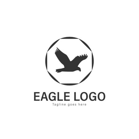 Eagle logo vector illustration. modern eagle logo template isolated on white background Banque d'images - 128906100