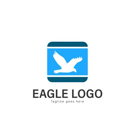 Eagle logo vector illustration. modern eagle logo template isolated on white background Banque d'images - 128906099