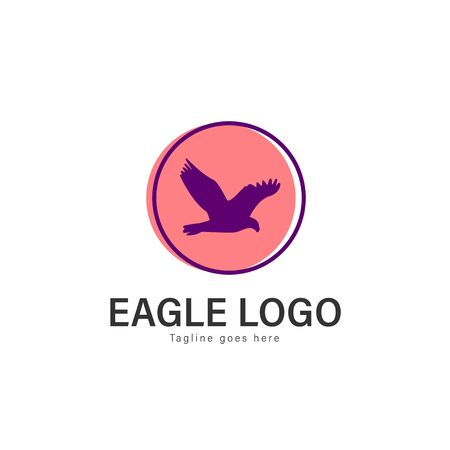 Eagle logo vector illustration. modern eagle logo template isolated on white background Banque d'images - 128906104