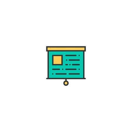 presentation icon line design. Business icon vector illustration Reklamní fotografie - 128906209