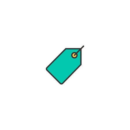 price tag icon line design. Business icon vector illustration