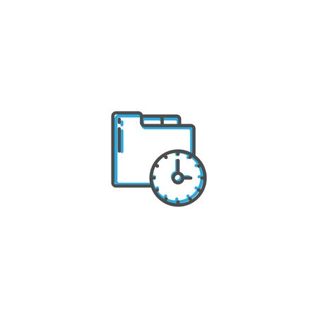 Modern and minimalist icon design. Management icon vector design illustration Reklamní fotografie - 128906224