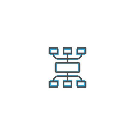 Diagram icon design. Marketing icon line vector illustration design