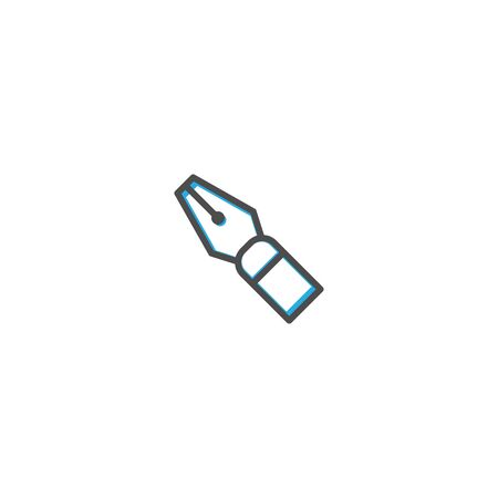 Fountain pen icon design. Stationery icon vector illustration  イラスト・ベクター素材