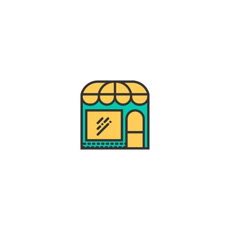 store icon line design. Business icon vector illustration