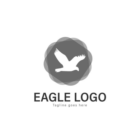 Eagle logo vector illustration. modern eagle logo template isolated on white background Banque d'images - 128906345