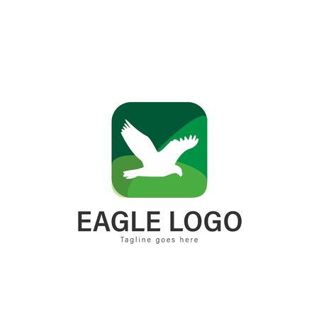 Eagle logo vector illustration. modern eagle logo template isolated on white background Banque d'images - 128906493