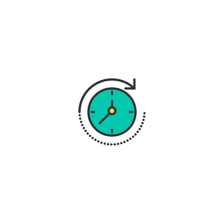time passing icon line design. Business icon vector illustration