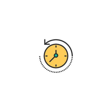 rewind time icon line design. Business icon vector illustration