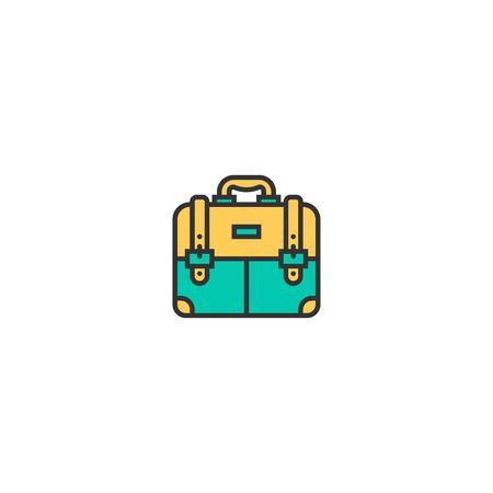 briefcase icon line design. Business icon vector illustration Ilustração