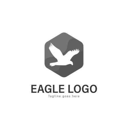 Eagle logo vector illustration. modern eagle logo template isolated on white background Banque d'images - 128906521