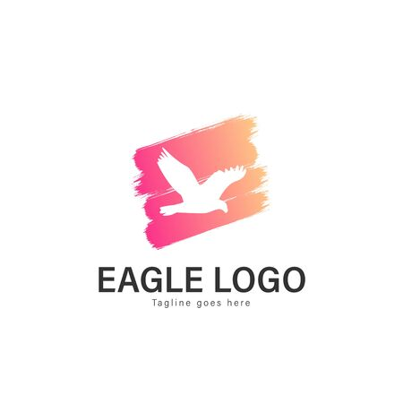 Eagle logo vector illustration. modern eagle logo template isolated on white background Banque d'images - 128906524