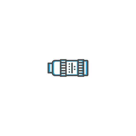 Objective icon design icon design. Photography and video icon line vector illustration design Ilustração