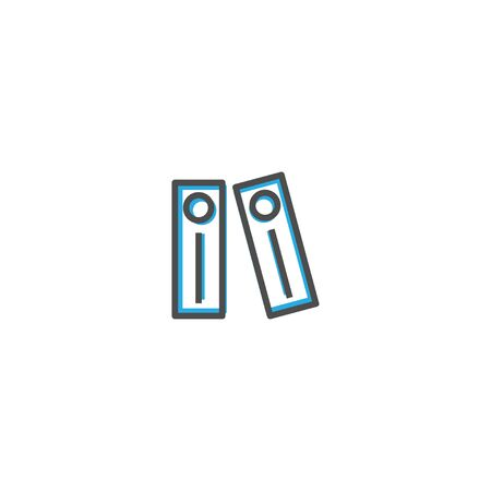 Archives icon design. Stationery icon vector illustration Ilustrace