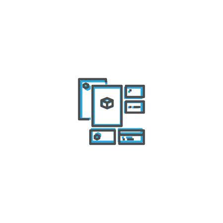 Identity icon design. Startup icon vector illustration Reklamní fotografie - 128906559