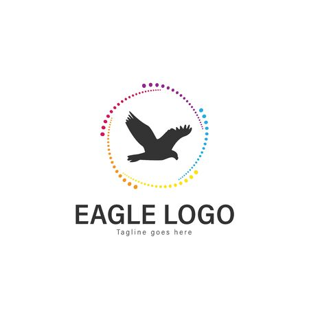 Eagle logo vector illustration. modern eagle logo template isolated on white background Banque d'images - 128906586