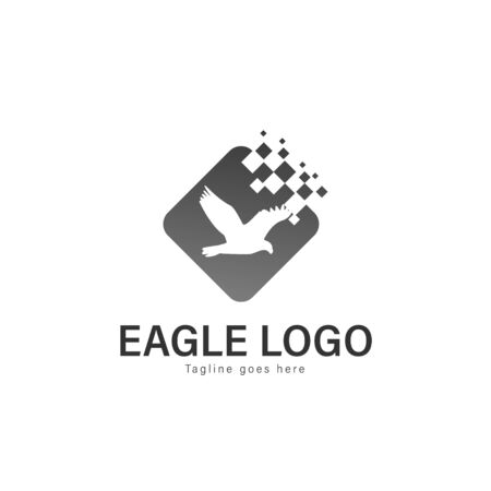 Eagle logo vector illustration. modern eagle logo template isolated on white background Banque d'images - 128906591