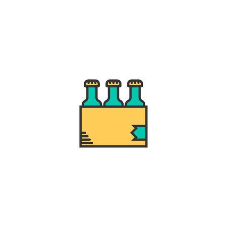 pack icon line design. Business icon vector illustration Ilustração