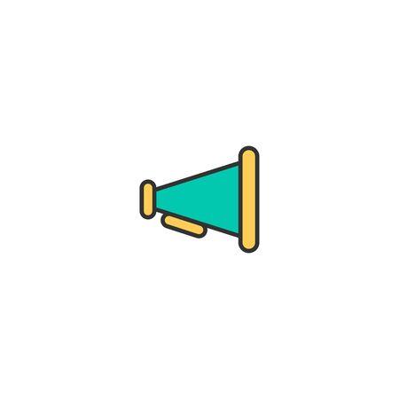 Megaphone icon design. Essential icon vector illustration