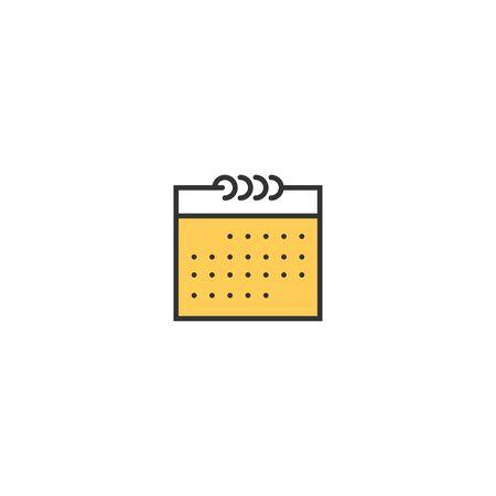 Calendar icon design. Essential icon vector illustration 写真素材 - 128907490