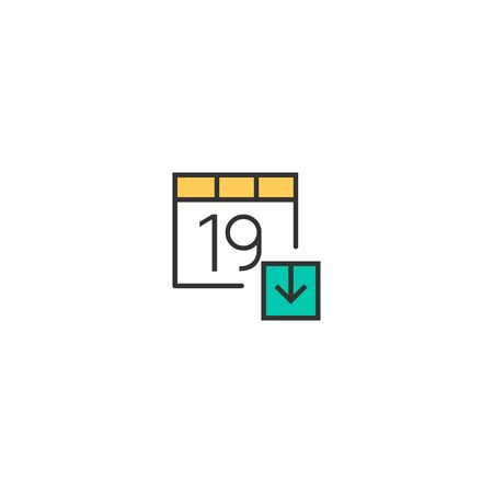 Calendar icon design. Interaction icon vector illustration 写真素材 - 128907493