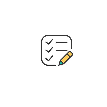 List icon design. Interaction icon vector illustration