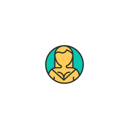 User icon design. Essential icon vector illustration
