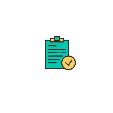Notepad icon design. Interaction icon vector illustration  イラスト・ベクター素材